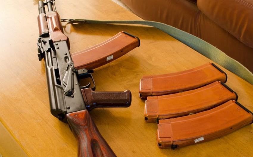Ağstafada evdə silah-sursat aşkarlandı