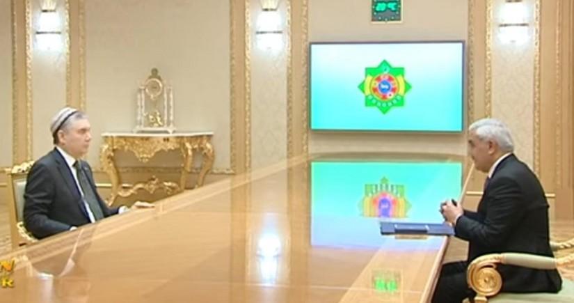 Бердымухамедов обсудил с президентомSOCAR совместную деятельность на месторождении Достлуг