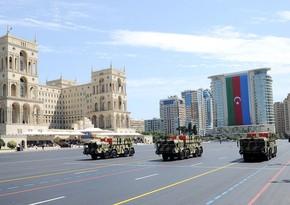 На параде Победы демонстрируется самая передовая военная и спецтехника Азербайджана