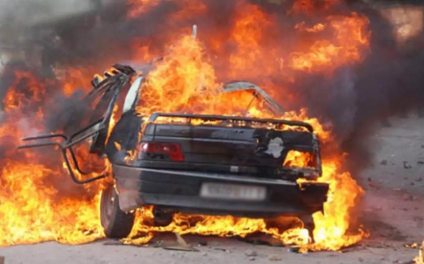 Qubada yük avtomobili yanıb