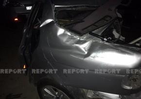 Цепная авария в Баку