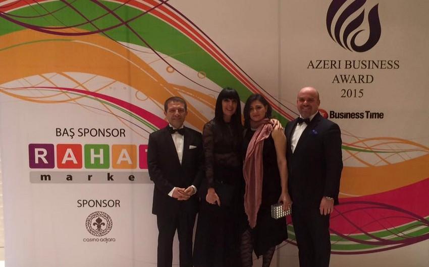 """İtaliyanın Azərbaycandakı səfiri Azeri Business Award 2015"""" mükafatına layiq görülüb"""