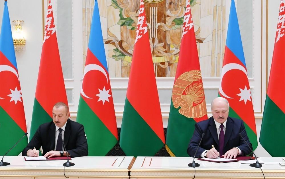 Azərbaycan-Belarus sənədləri imzalanıb - YENİLƏNİB