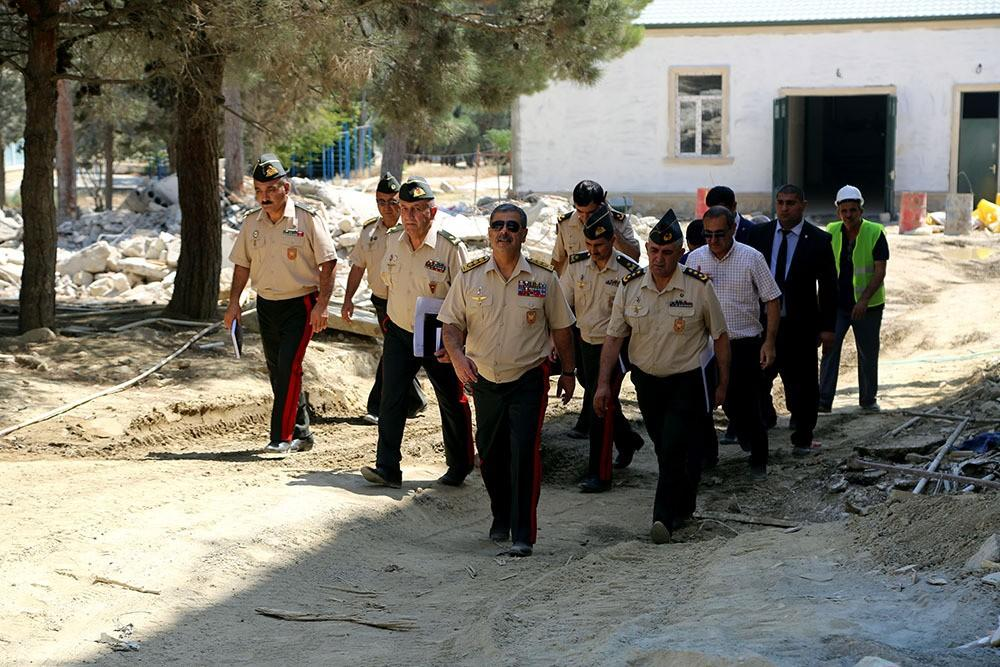 Zakir Hasanov checked major construction work being carried out at Military Lyceum