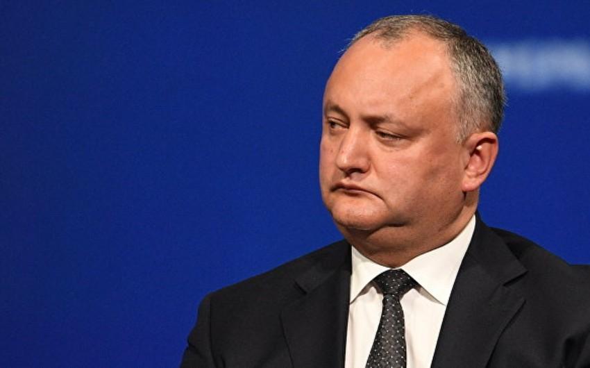 İqor Dodon Moldovanın MDB-dən mümkün çıxışını şərh edib