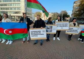 В Гааге организована многочасовая акция в поддержку Азербайджана