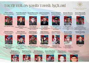 Təltif edilən şəhid təhsil işçiləri