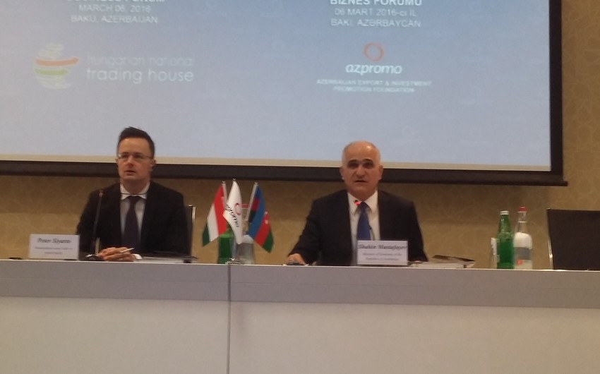 Budapeşt Azərbaycan və Macarıstan arasında biznes əlaqələrinin inkişafına 200 mln. dollar ayıracaq