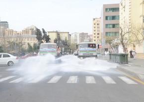 На улицах Баку проводится очередная дезинфекция