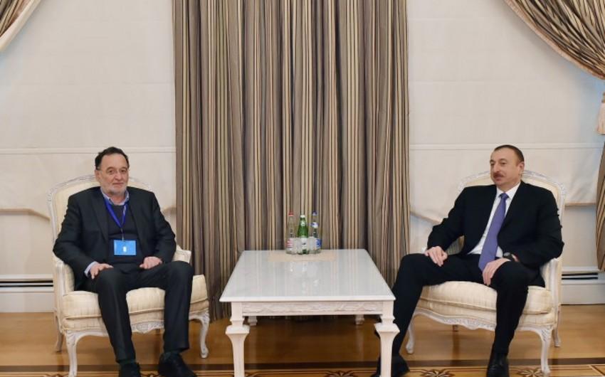 Azərbaycan Prezidenti Yunanıstanın məhsuldar istehsal, ətraf mühit və enerji nazirini qəbul edib