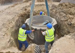 BakınınBinəqədi qəsəbəsində yeni kanalizasiya kollektoru inşa edilir