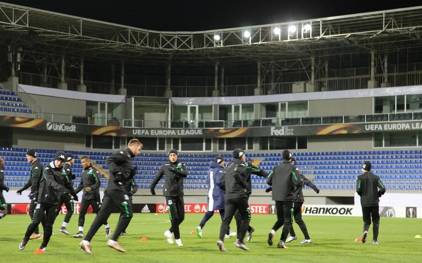 Qəbələ və Krasnodar klubları oyun öncəsi son məşqlərinə çıxıblar