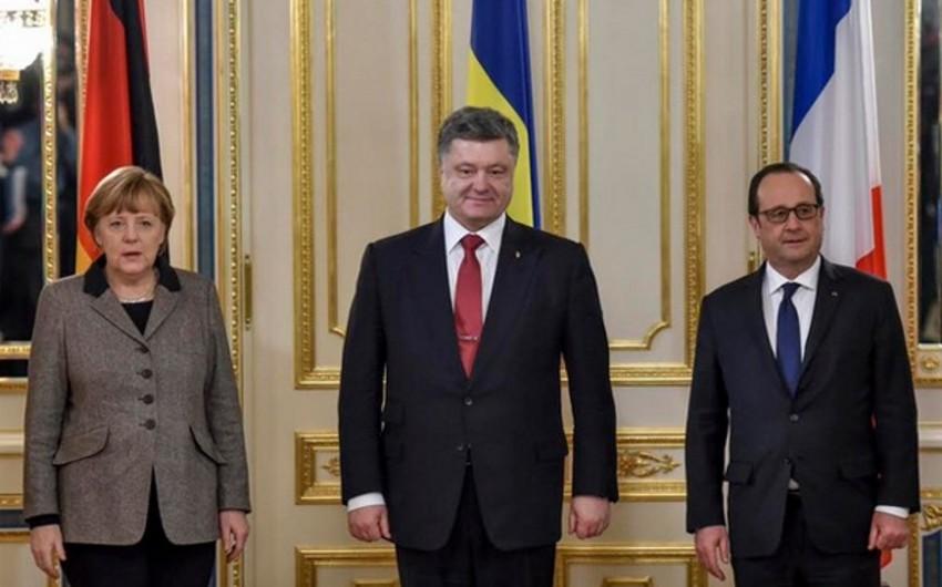 Kiyevdə Ukrayna, Almaniya və Fransa liderlərinin görüşü başa çatıb