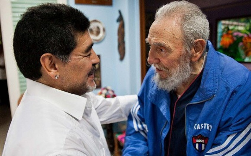 Maradona: Fidel Kastro mənim üçün ikinci ata idi