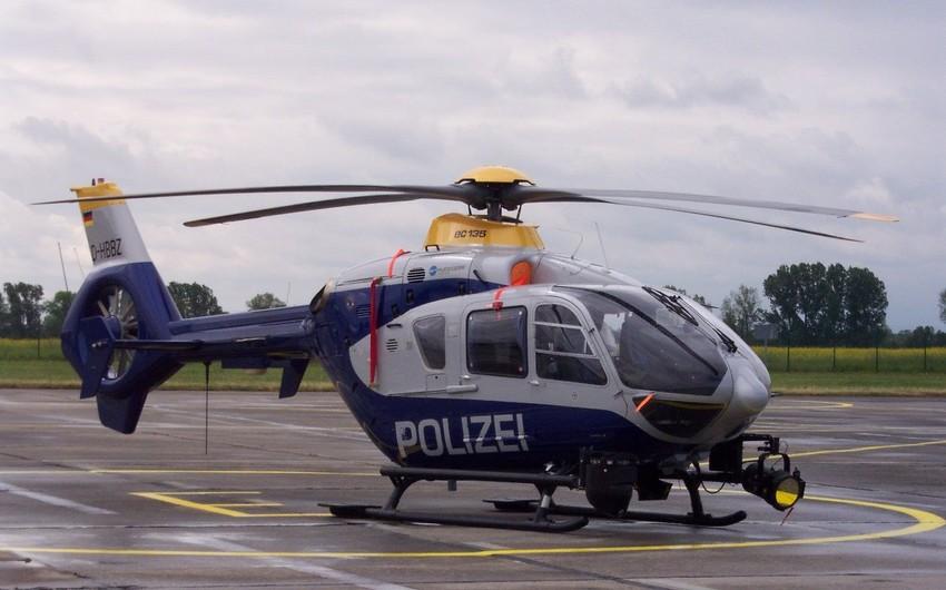 Almaniyada polis vertolyotu qəzaya uğrayıb, iki nəfər ölüb