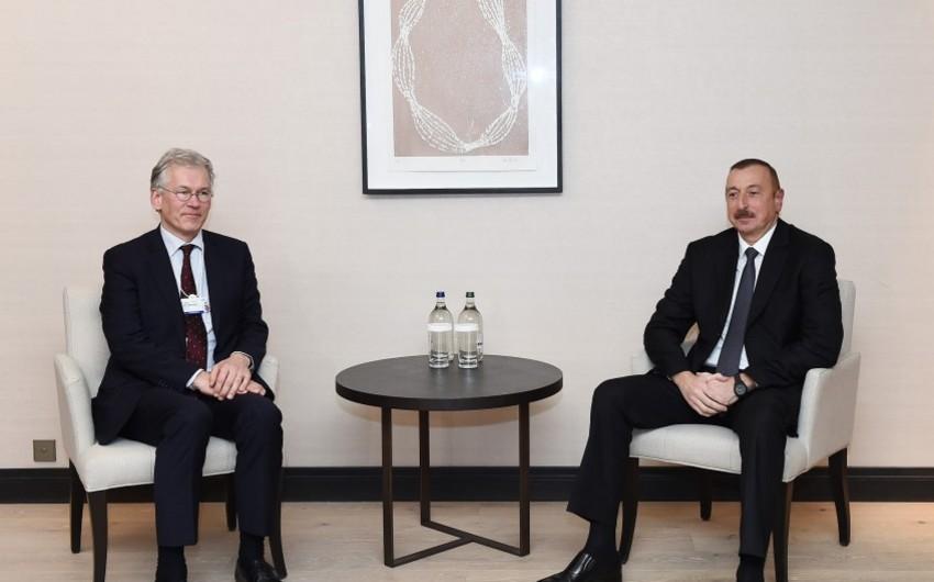 """Prezident İlham Əliyev """"Royal Phillips"""" şirkətinin baş icraçı direktoru ilə görüşüb"""