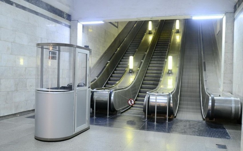 """Metronun """"Həzi Aslanov"""" stansiyasının eskalatoru əsaslı təmir olunur"""
