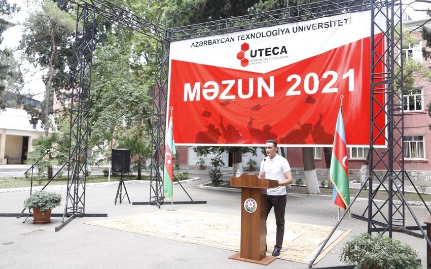 Azərbaycan Texnologiya Universitetində məzunlara diplomlartəqdim edilib