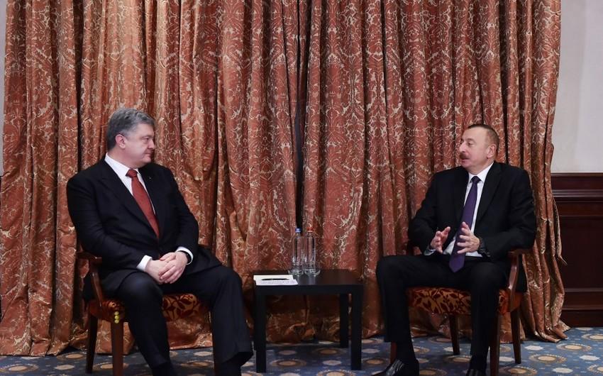 В Брюсселе состоялась встреча Ильхама Алиева и Петра Порошенко - ОБНОВЛЕНО