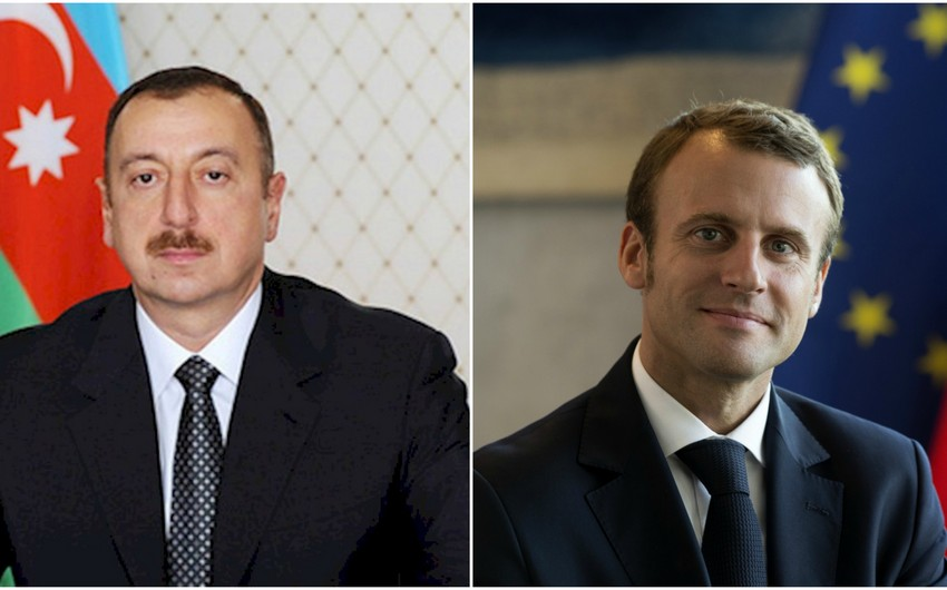 Azərbaycan Prezidenti İlham Əliyev Emmanuel Makronu Fransa prezidenti seçilməsi münasibətilə təbrik edib