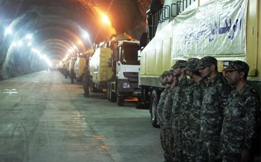 İran ilk dəfə yeraltı raket bazasını nümayiş etdirib - VİDEO