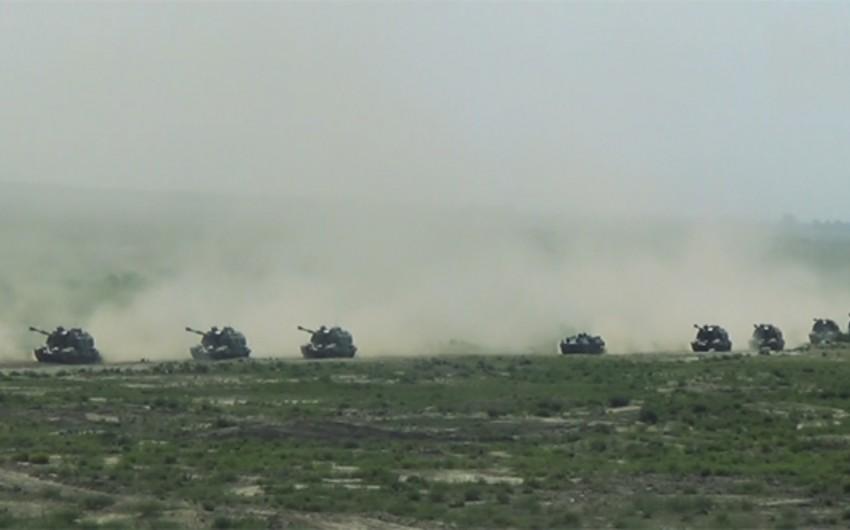 Azərbaycan ordusunun irimiqyaslı təlimlərinin birinci mərhələsinə start verilib - VİDEO