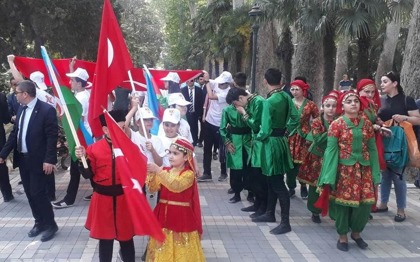 """Gəncədə """"Atatürkü anma, Gənclər və idman bayramı"""" qeyd olunub"""