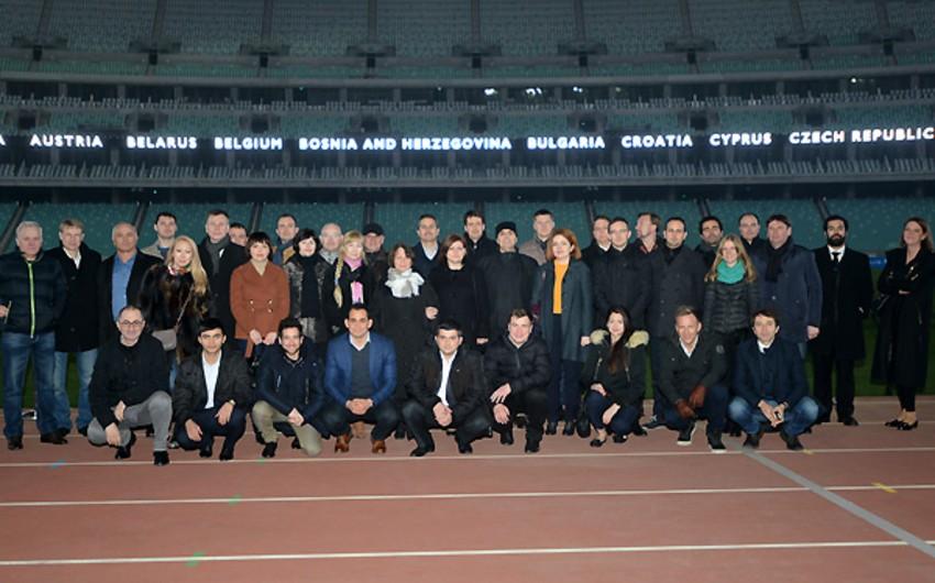 UEFA seminarına qatılan 14 ölkənin nümayəndələri Bakı Olimpiya Stadionunda olub