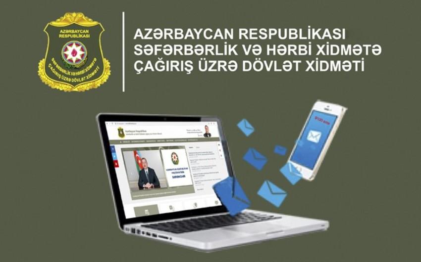 Müddətli həqiqi hərbi xidmətə göndəriləcək çağırışçılara SMS-lər göndərilib
