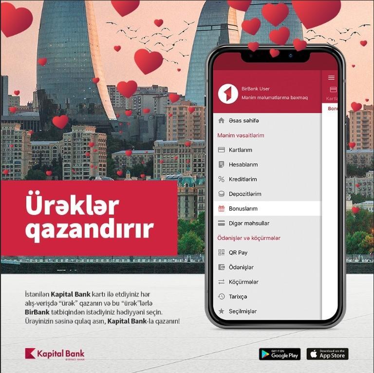 Kapital Bank müştərilərinə hədiyyə qazanmaq imkanı yaradıb