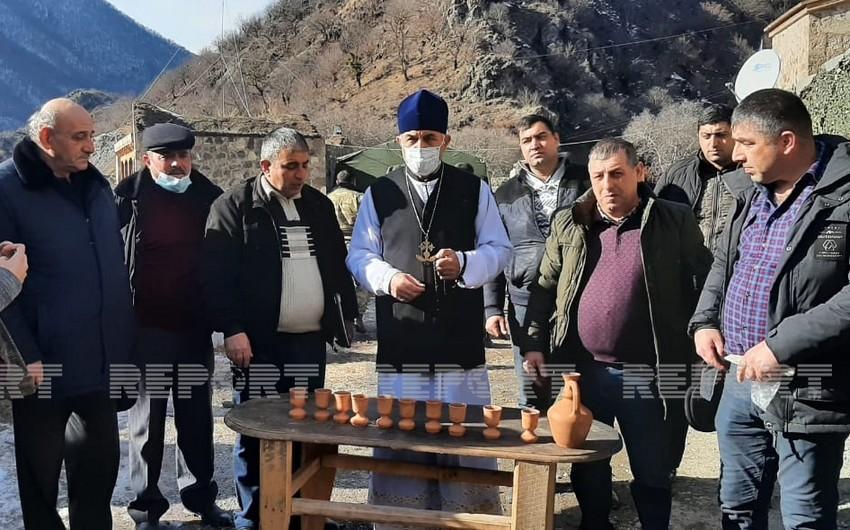 Удины вновь посетили монастырь Худаванг в Кельбаджаре