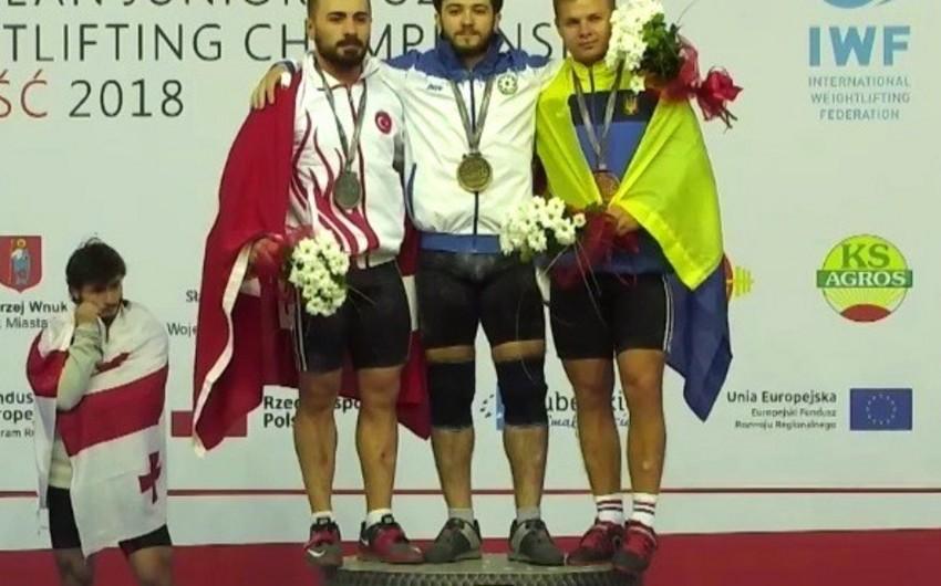 Azərbaycan idmançısı ağır atletika üzrə Avropa birinciliyinin qalibi olub