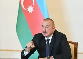 Azərbaycan Prezidenti: Düşməni bundan sonra da qovacağıq