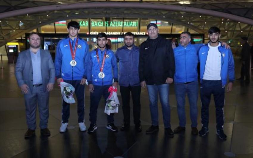 Azərbaycan cüdoçuları dünya çempionatından Vətənə qayıdıb