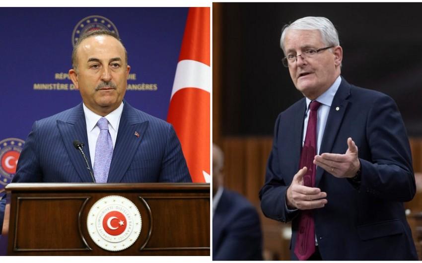 Türkiyə və Kanada XİN başçıları arasında telefon danışığı olub