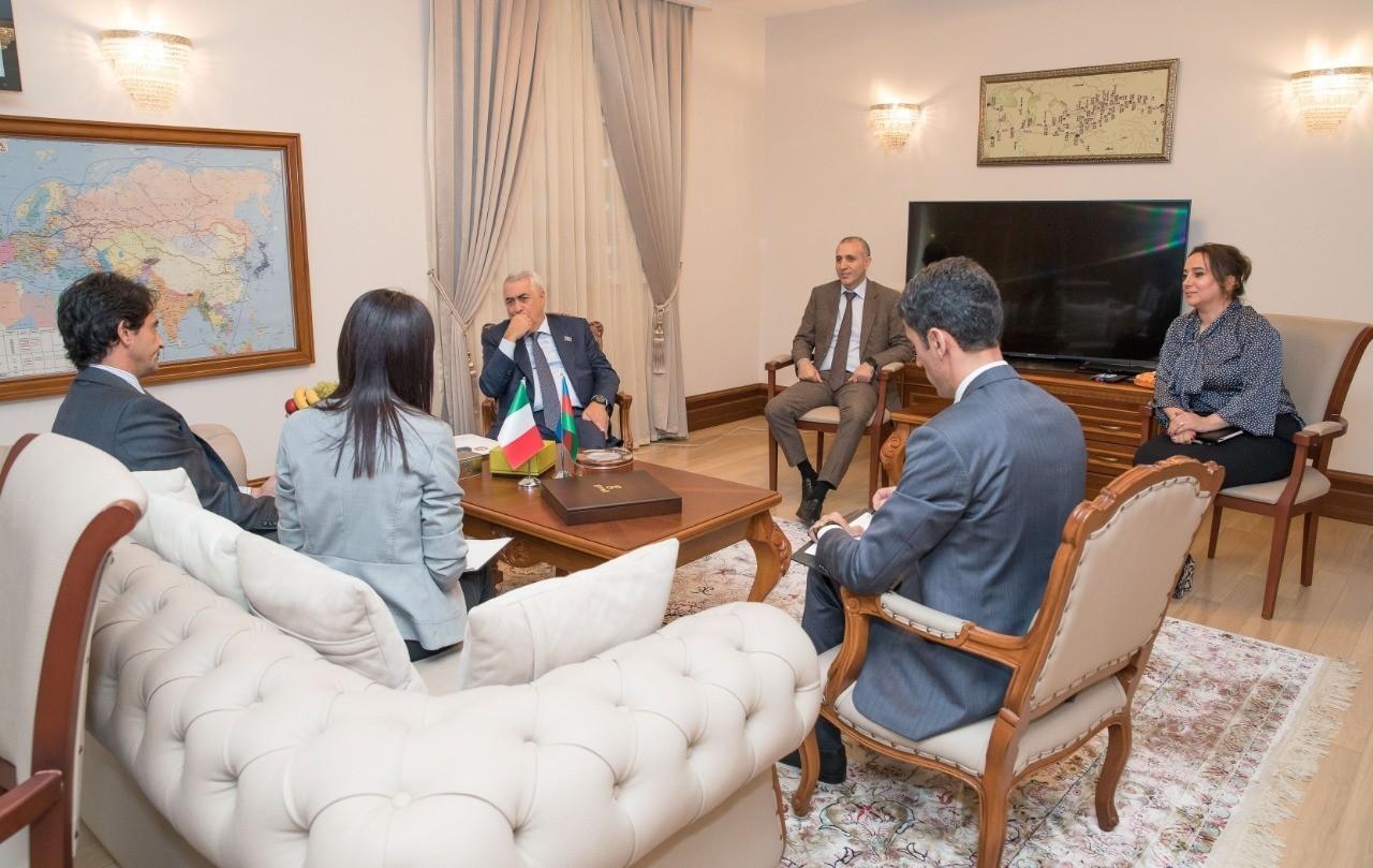 В ЗАО Азербайджанские железные дороги состоялась встреча с послом Италии