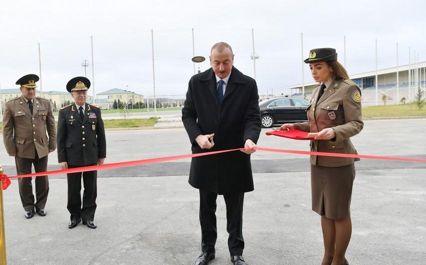 Президент Ильхам Алиев принял участие в открытии спортивно-оздоровительного клуба МЧС