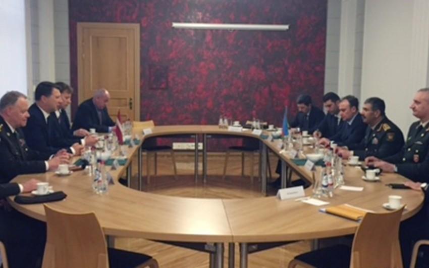 Zakir Həsənov Latviyanın yeni seçilən prezidenti ilə görüşüb
