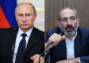 Путин и Пашинян обсудили процесс реализации договоренностей по Карабаху