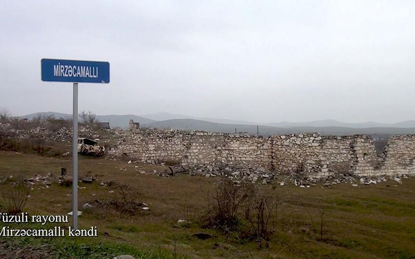 Footage from Mirzajamalli village of Fuzuli
