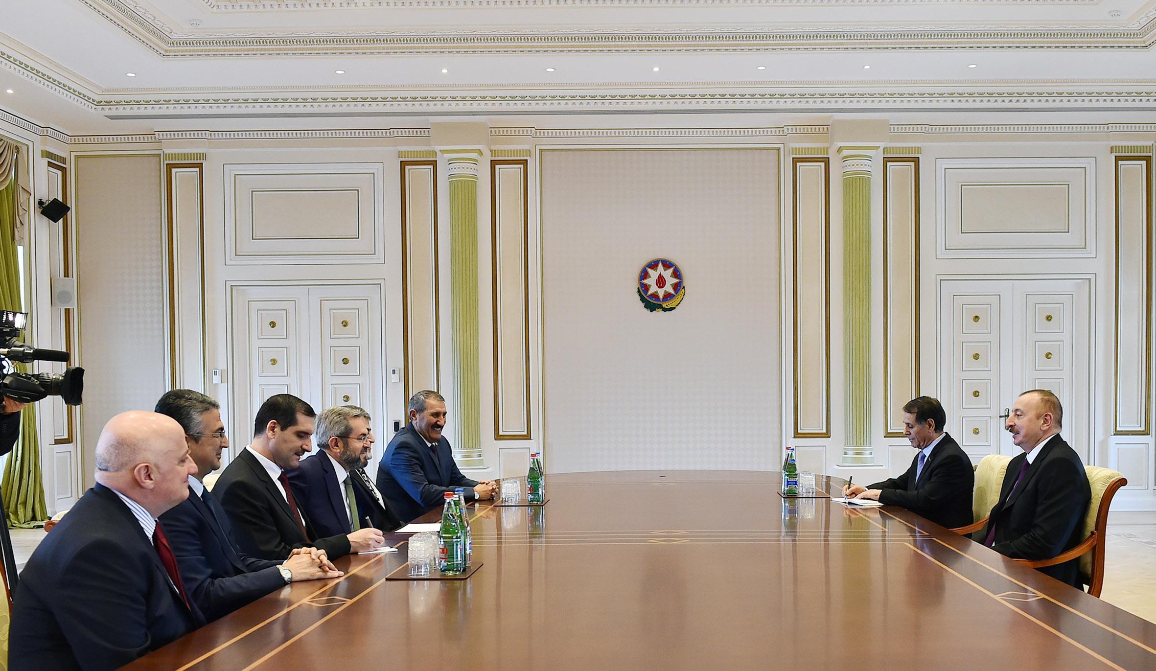 Президент Ильхам Алиев принял руководителя Турецко-азербайджанской межпарламентской группы дружбы