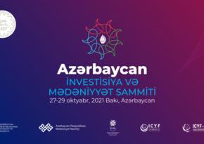 Bakıda Azərbaycan İnvestisiya və Mədəniyyət Sammiti keçirilir