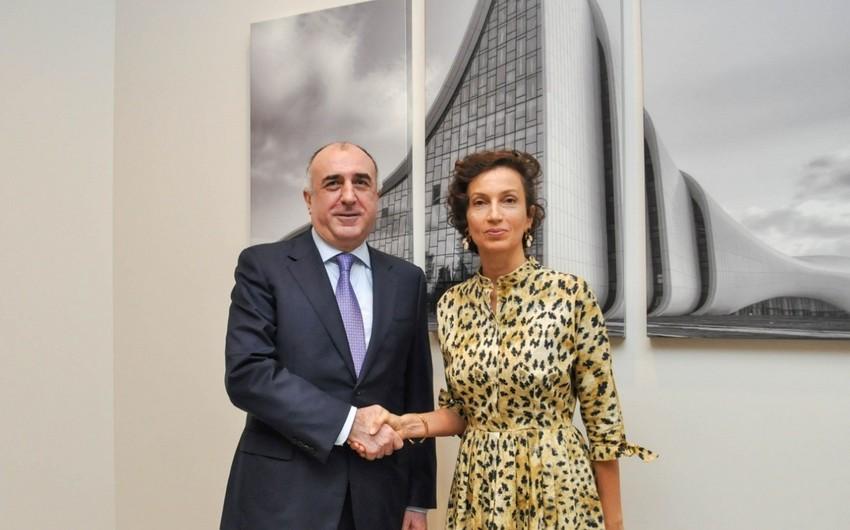 Elmar Məmmədyarov UNESKO-nun Baş direktoru ilə görüşüb