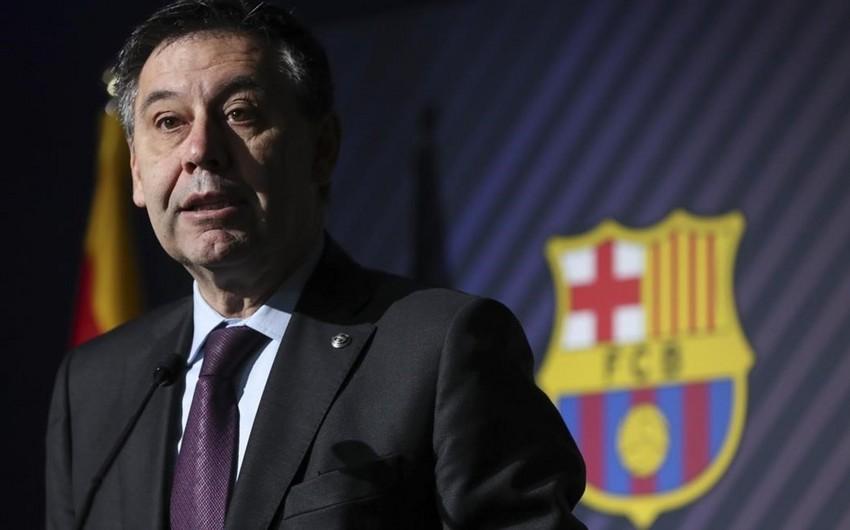 KİV: Barselonanın prezidenti istefa vermək fikrində deyil