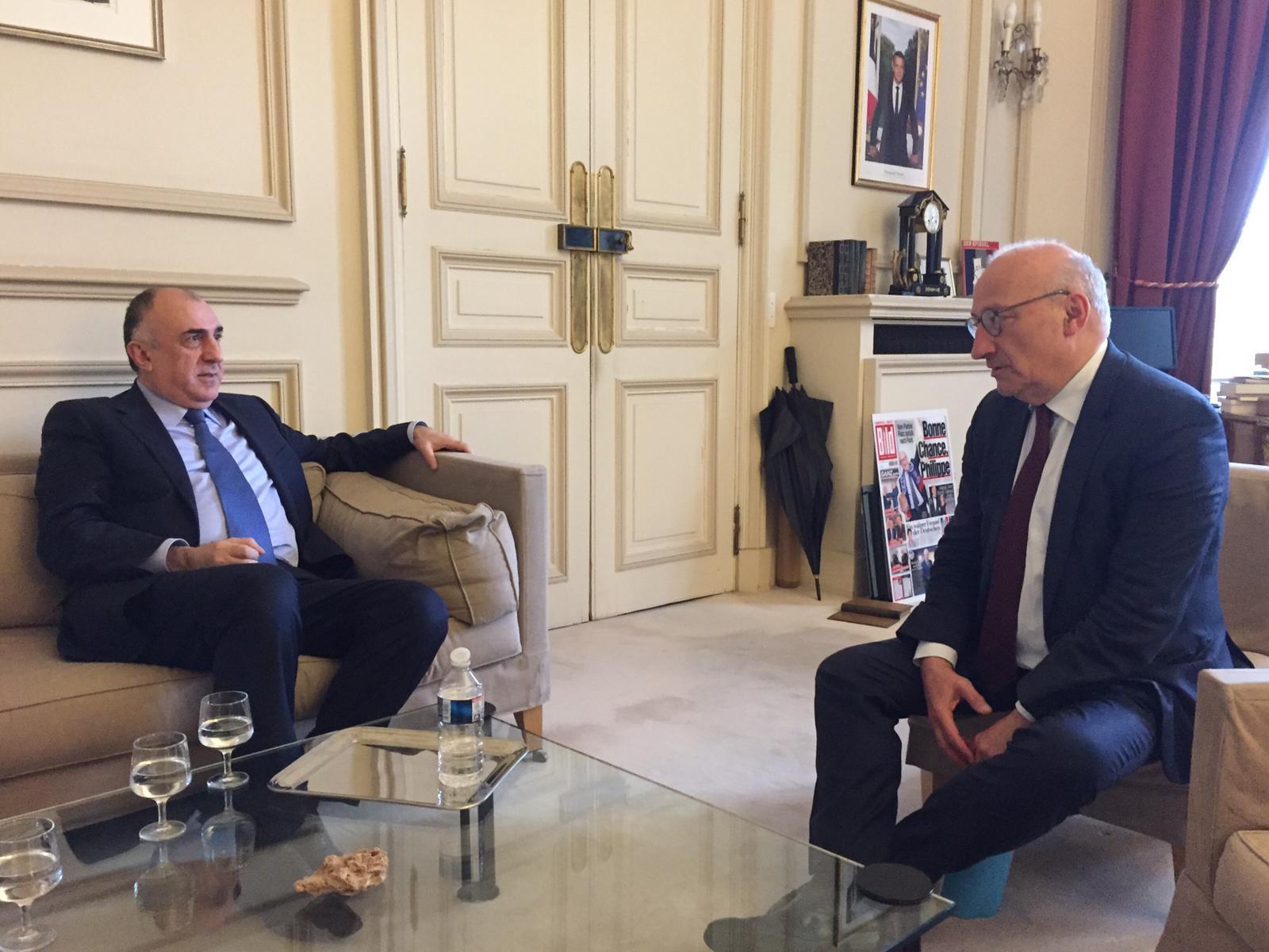 Эльмар Мамедъяров обсудил с французской стороной карабахское урегулирование