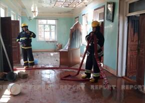 В Товузе произошел пожар, есть пострадавший - ВИДЕО