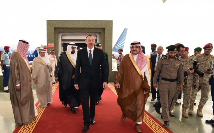 Prezident İlham Əliyev Ciddə şəhərinə gedib