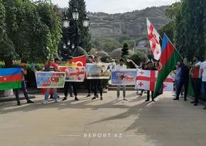 Tbilisidə Azərbaycana dəstək aksiyası keçirildi