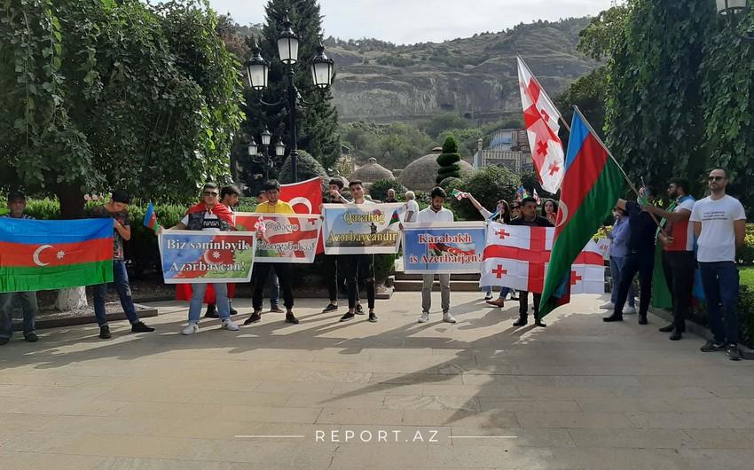В Тбилиси прошла акция в поддержку Азербайджана