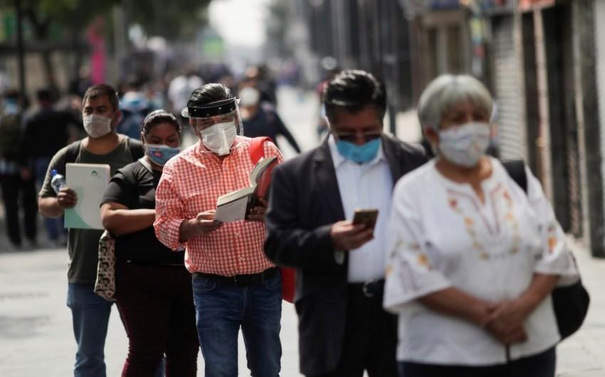 Meksikada COVID-19-a yoluxanların sayı 220 mini ötdü